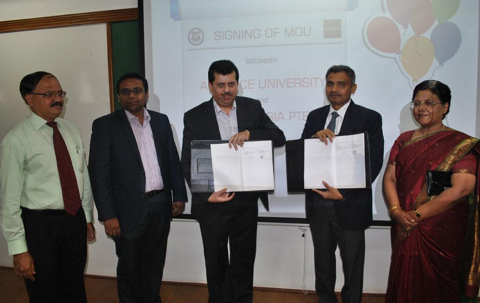 Alliance University signs Memorandum of Understanding with Autodesk India