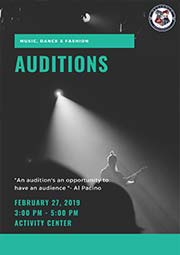 Alliance Dance, Music and Fashion Auditions