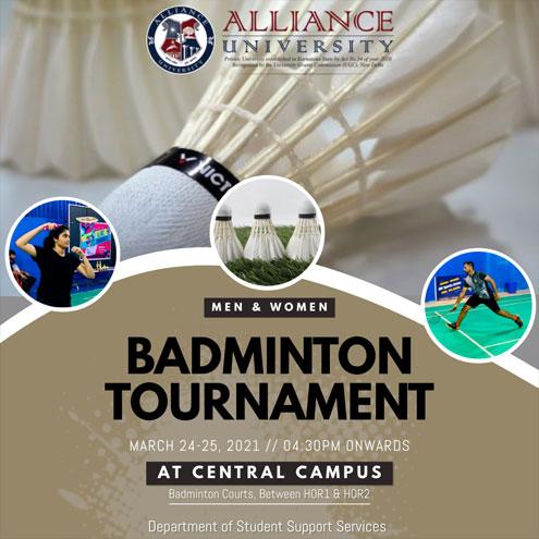 Alliance Badminton Tournament - 25 & 26 March, 2021