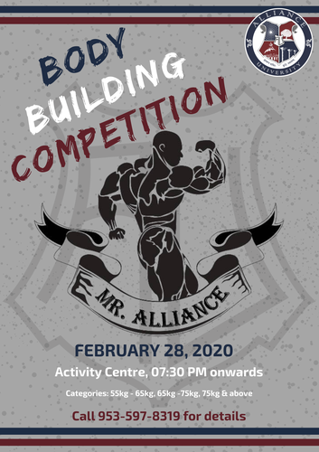 Alliance Body Building Competition