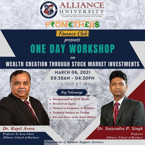 One Day Workshop: Prometheus Finance Club