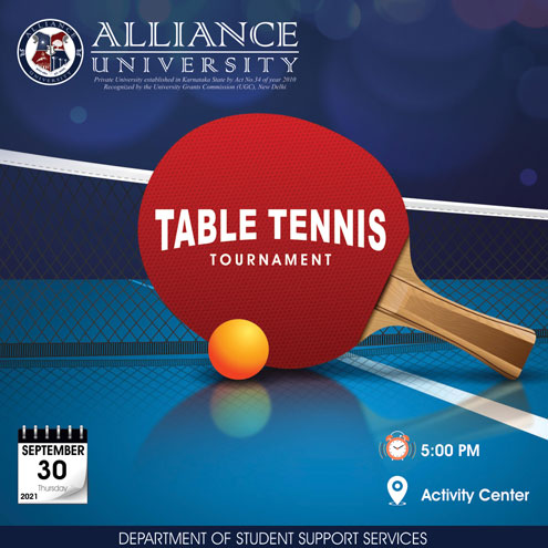 Table Tennis Tournament - Sep 2021