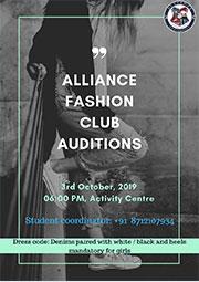 Alliance Fashion club Auditions
