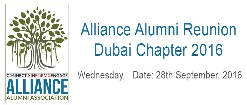 Alliance Alumni Reunion – Dubai Chapter 2016