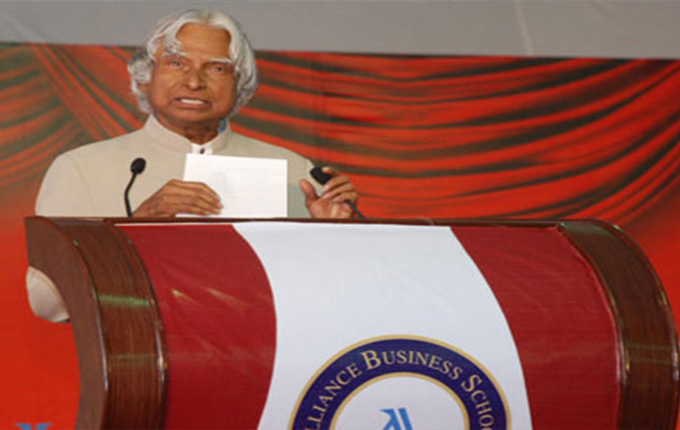 Dr. A. P. J. Abdul Kalam at ALLIANCE