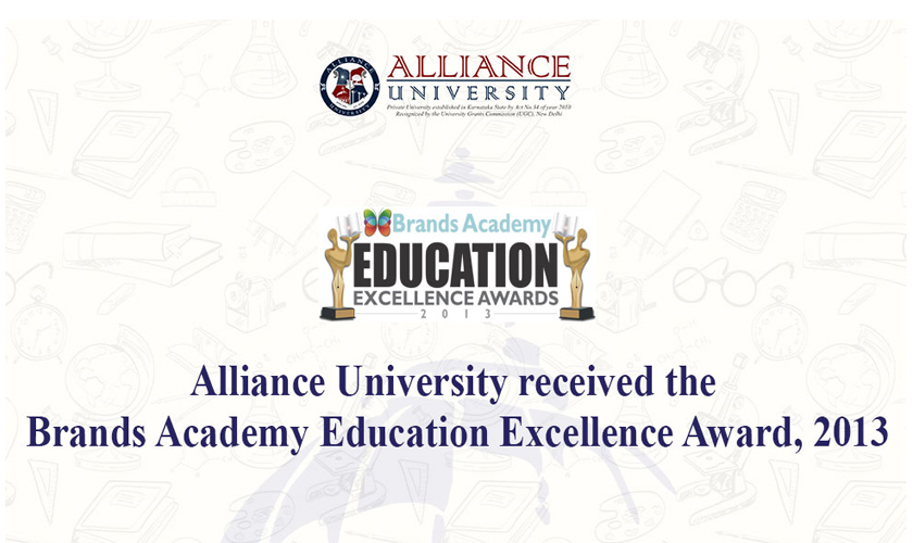 Alliance University received the Brands Academy Education Excellence Award