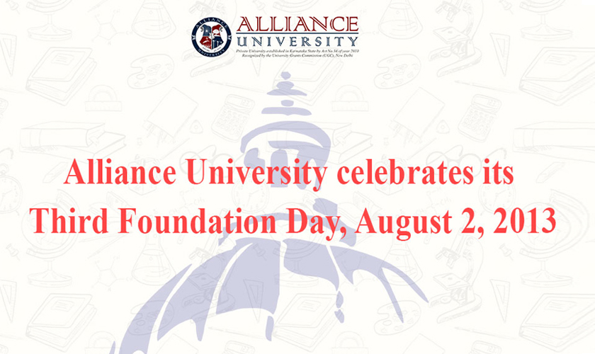 Alliance University celebrates its Third Foundation Day