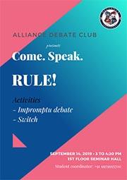 Come, Speak & Rule!