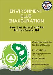 Environment Club Inauguration