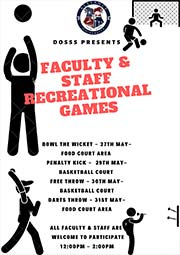 Faculty and Staff Recreational Games