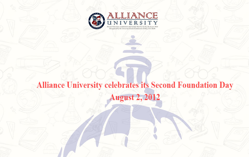 Alliance University celebrates its Second Foundation Day, August 2, 2012