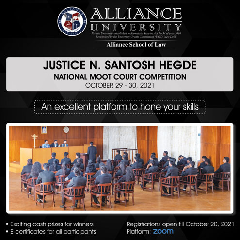 Justice N Santosh Hegde National Moot Court Competition 2021