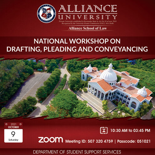 National Workshop on Drafting, Pleading and Conveyancing.