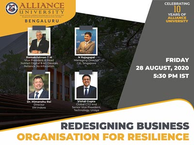 Panel Discussion on Redesigning Business Organisation for Resilience on August 28, 2020