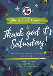 Thank God it's Saturday: Paint a theme