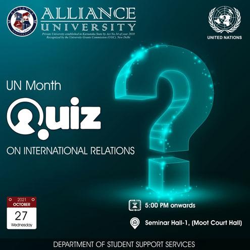 UN Month – Quiz on International Relations